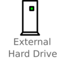 External Hard Drive Labelled