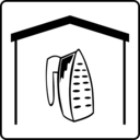download Hotel Icon Has Iron In Room clipart image with 225 hue color