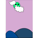 download Cloudy clipart image with 90 hue color