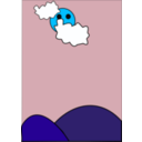 download Cloudy clipart image with 135 hue color