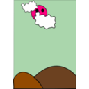 download Cloudy clipart image with 270 hue color