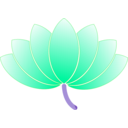download Lotus clipart image with 135 hue color