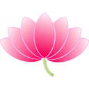 download Lotus clipart image with 315 hue color