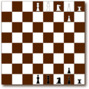 Chessboard 2d Brown