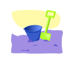 download Bucket And Spade clipart image with 225 hue color