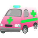 download Ambulance clipart image with 135 hue color