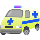 download Ambulance clipart image with 225 hue color