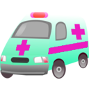 download Ambulance clipart image with 315 hue color