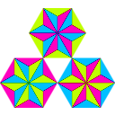 download Thirds Of Triangles clipart image with 315 hue color