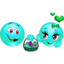 download Lover Eastern Smiley Emoticon clipart image with 135 hue color