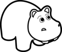Hippo Line Art