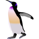 download Emperor Penguin clipart image with 225 hue color