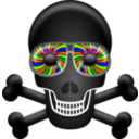 download Skull clipart image with 45 hue color
