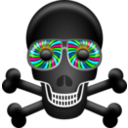 download Skull clipart image with 135 hue color
