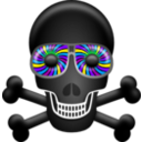 download Skull clipart image with 225 hue color