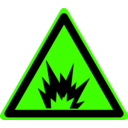 download Hazard Warning Sign Explosion clipart image with 45 hue color