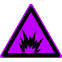 download Hazard Warning Sign Explosion clipart image with 225 hue color