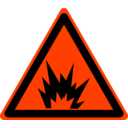 download Hazard Warning Sign Explosion clipart image with 315 hue color