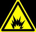 Hazard Warning Sign Explosion