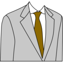 download Light Grey Suit clipart image with 45 hue color