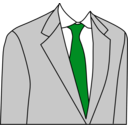 download Light Grey Suit clipart image with 135 hue color