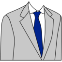 download Light Grey Suit clipart image with 225 hue color