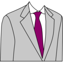 download Light Grey Suit clipart image with 315 hue color