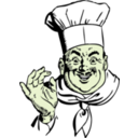 download Happy Chef clipart image with 45 hue color
