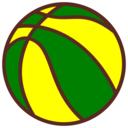 Bola De Basquete Verde E Amarela
