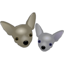 download Two Chihuahuas clipart image with 45 hue color