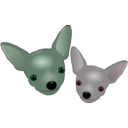 download Two Chihuahuas clipart image with 135 hue color