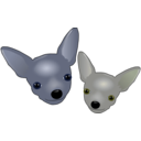 download Two Chihuahuas clipart image with 225 hue color
