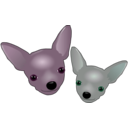 download Two Chihuahuas clipart image with 315 hue color