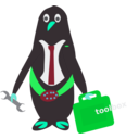 download President Of Penguins clipart image with 135 hue color