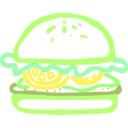 download Burger Linda Kim 01 clipart image with 45 hue color