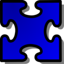 Blue Jigsaw Piece 03