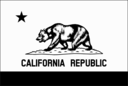 Flag Of California Thin Border Monochrome