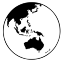 Earth Globe Oceania