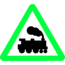 download Roadsign Train clipart image with 135 hue color