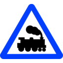 download Roadsign Train clipart image with 225 hue color