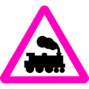 download Roadsign Train clipart image with 315 hue color