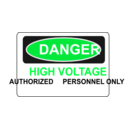 download Danger High Voltage Authorized Personnel Only clipart image with 135 hue color