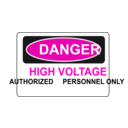 download Danger High Voltage Authorized Personnel Only clipart image with 315 hue color