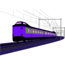 download Dutch Train clipart image with 225 hue color