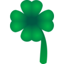 download Clover Four Leaf clipart image with 45 hue color