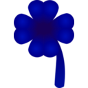 download Clover Four Leaf clipart image with 135 hue color