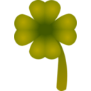 download Clover Four Leaf clipart image with 315 hue color