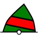 Conical Buoy Green Red Green