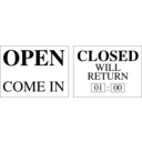 download Open And Closed Signs clipart image with 135 hue color