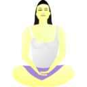 download Lady In Meditation clipart image with 45 hue color